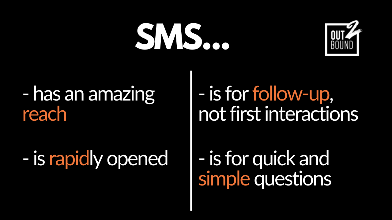 sms for starup sales